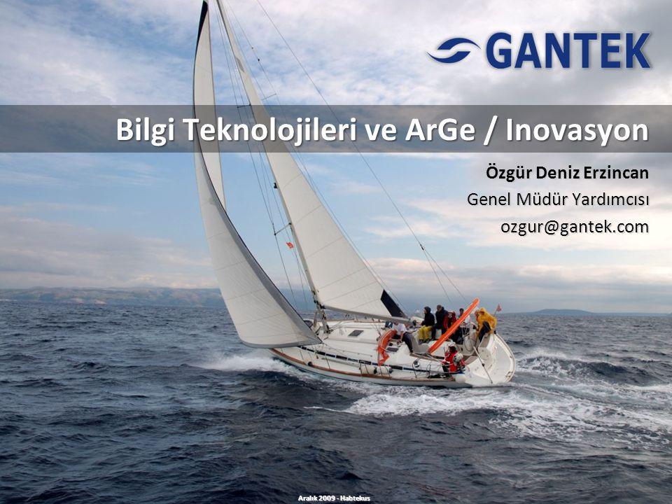 Bilgi Teknolojileri ve ArGe / Inovasyon Özgür Deniz Erzincan Genel Müdür Yardımcısı ozgur@gantek.com Aralık 2009 - Habtekus