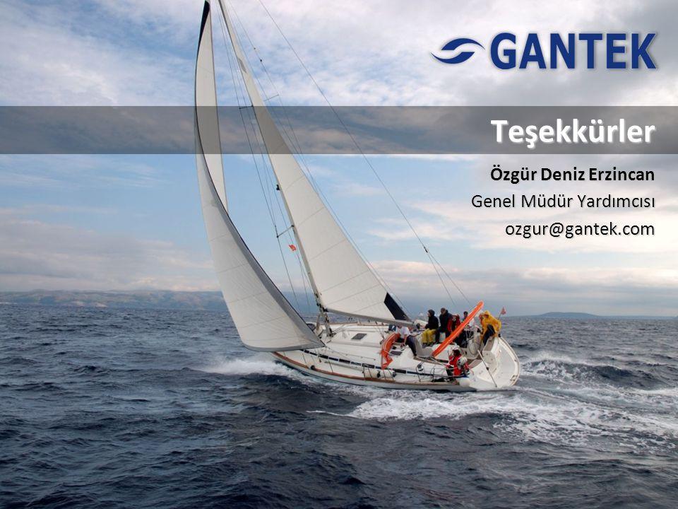 Teşekkürler Özgür Deniz Erzincan Genel Müdür Yardımcısı ozgur@gantek.com