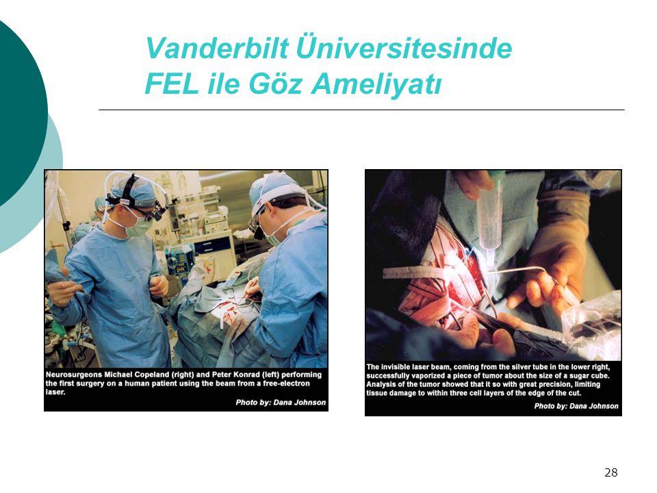 28 Vanderbilt Üniversitesinde FEL ile Göz Ameliyatı
