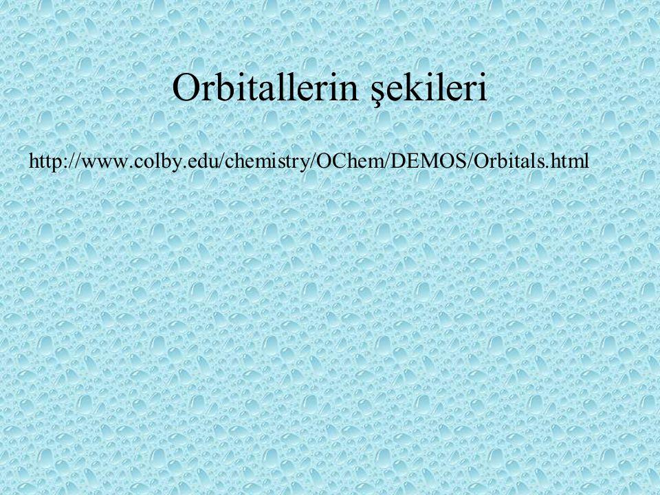 Orbitallerin şekileri http://www.colby.edu/chemistry/OChem/DEMOS/Orbitals.html
