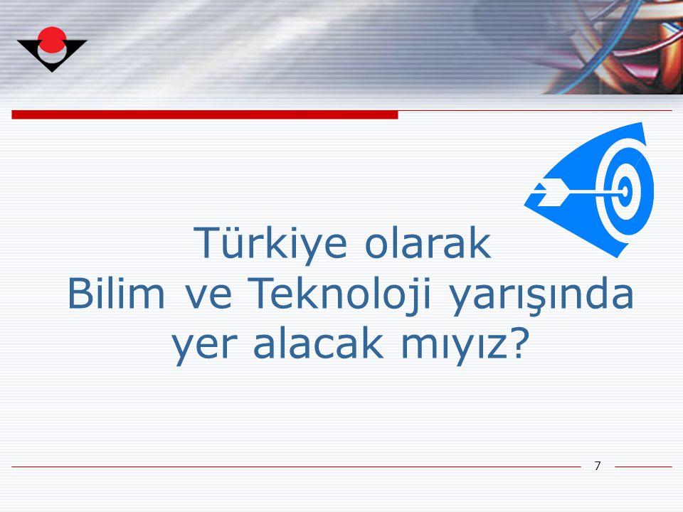 7 Türkiye olarak Bilim ve Teknoloji yarışında yer alacak mıyız?