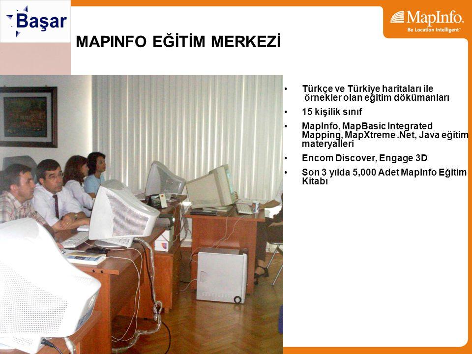MAPINFO EĞİTİM MERKEZİ Türkçe ve Türkiye haritaları ile örnekler olan eğitim dökümanları 15 kişilik sınıf MapInfo, MapBasic Integrated Mapping, MapXtr