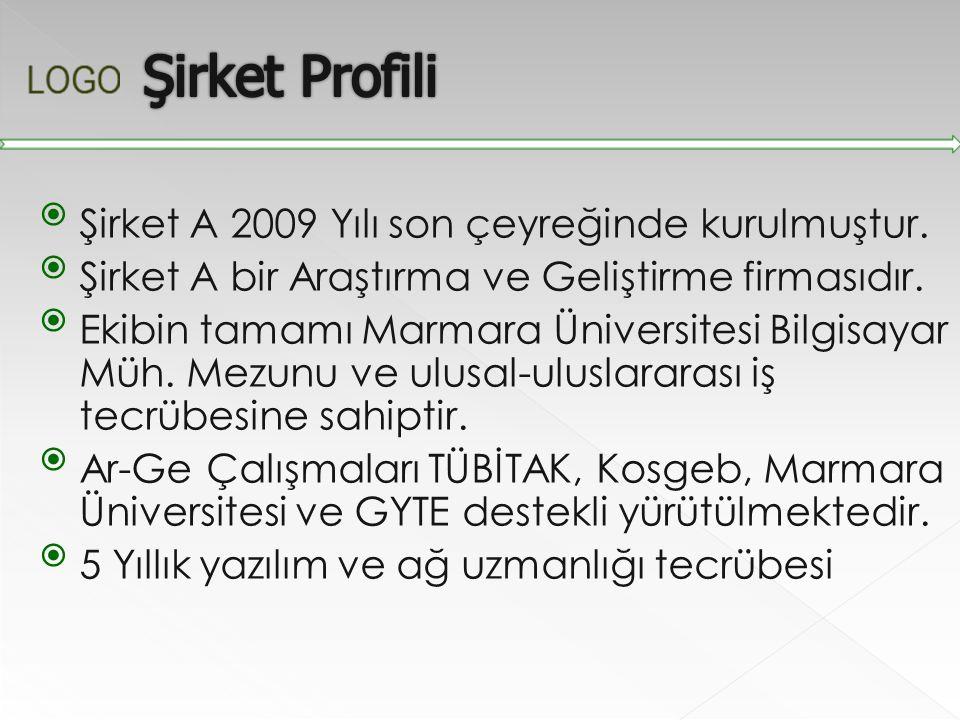 Şirket A 2009 Yılı son çeyreğinde kurulmuştur. Şirket A bir Araştırma ve Geliştirme firmasıdır. Ekibin tamamı Marmara Üniversitesi Bilgisayar Müh.