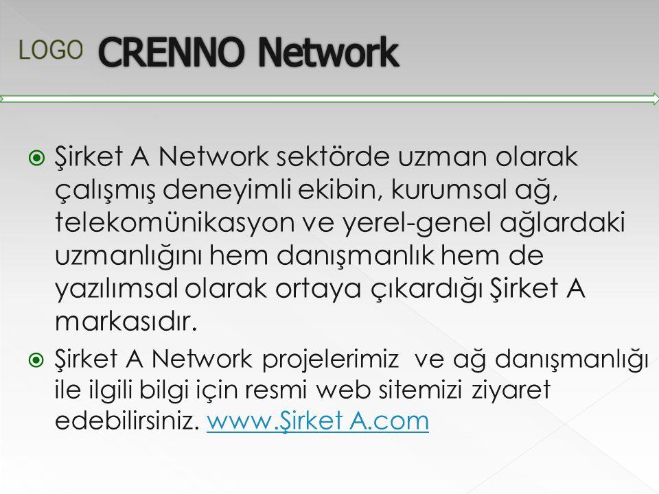 Şirket A Network sektörde uzman olarak çalışmış deneyimli ekibin, kurumsal ağ, telekomünikasyon ve yerel-genel ağlardaki uzmanlığını hem danışmanlık