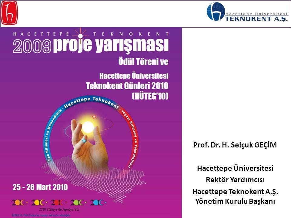 Prof. Dr. H. Selçuk GEÇİM Hacettepe Üniversitesi Rektör Yardımcısı Hacettepe Teknokent A.Ş. Yönetim Kurulu Başkanı