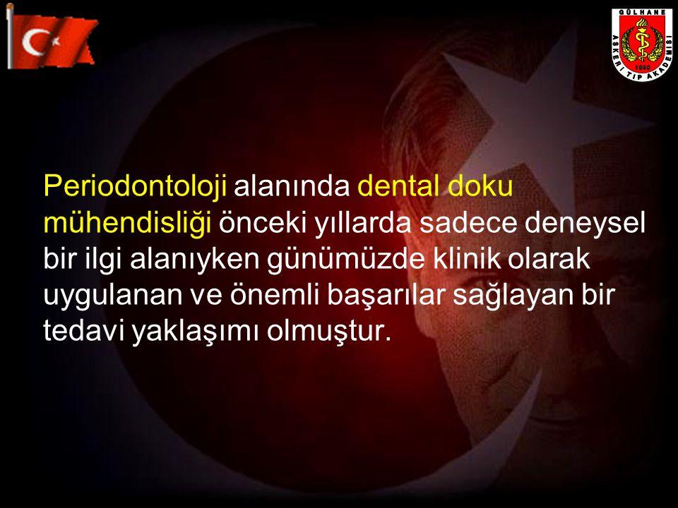 Periodontoloji alanında dental doku mühendisliği önceki yıllarda sadece deneysel bir ilgi alanıyken günümüzde klinik olarak uygulanan ve önemli başarı