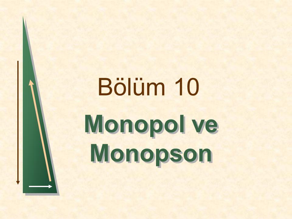 Bölüm 10 Monopol ve Monopson