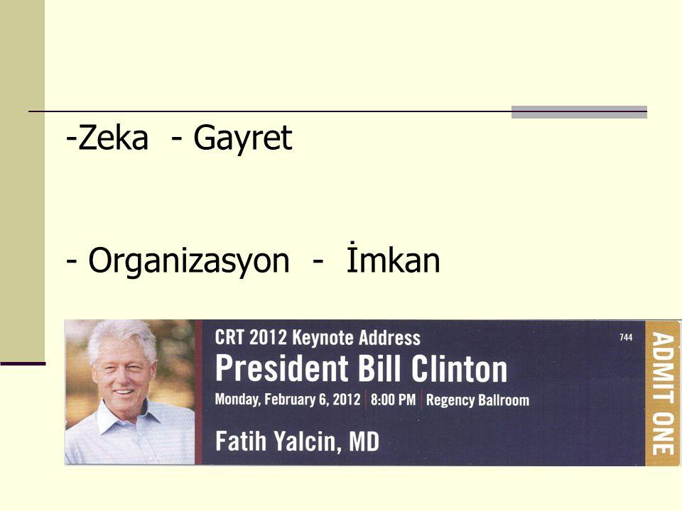 -Zeka - Gayret - Organizasyon - İmkan