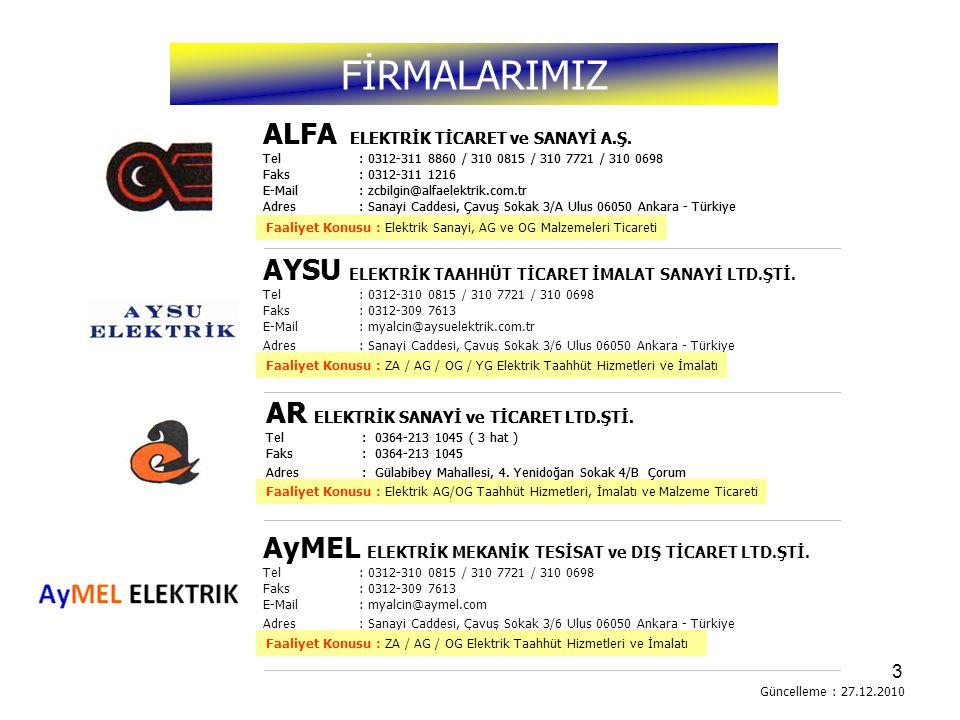 4 Firmamız ALFA ELEKTRİK A.Ş.