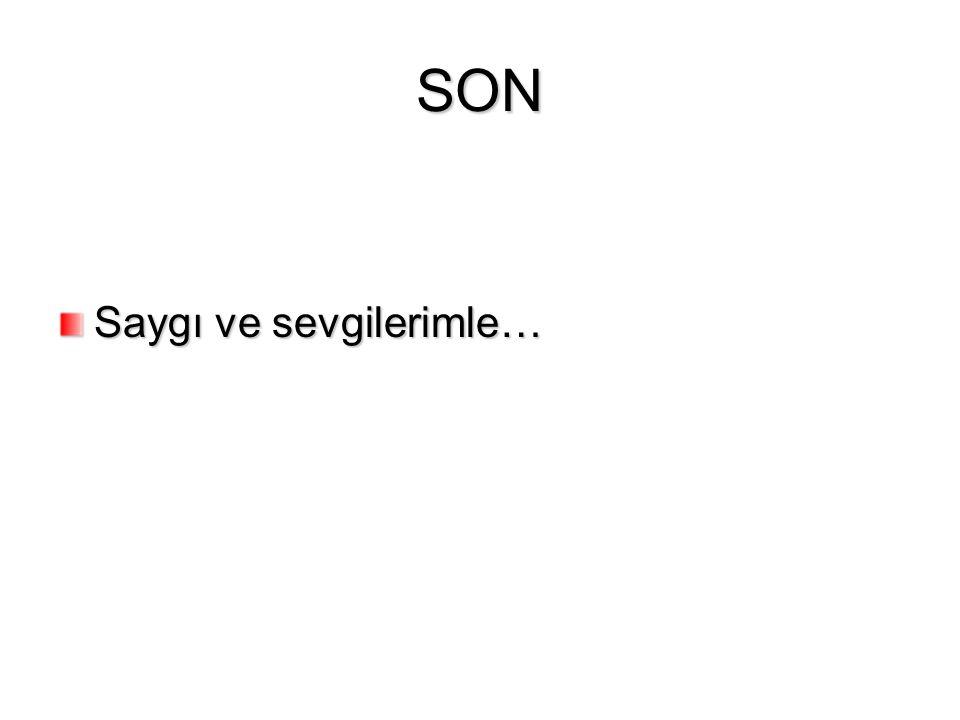SON Saygı ve sevgilerimle…