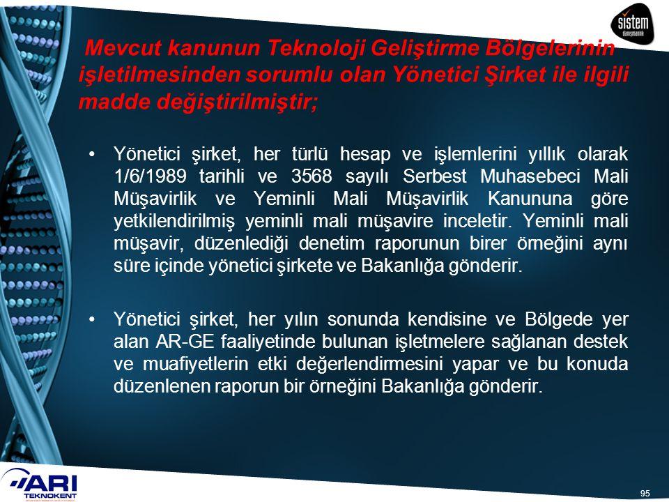 95 Yönetici şirket, her türlü hesap ve işlemlerini yıllık olarak 1/6/1989 tarihli ve 3568 sayılı Serbest Muhasebeci Mali Müşavirlik ve Yeminli Mali Mü