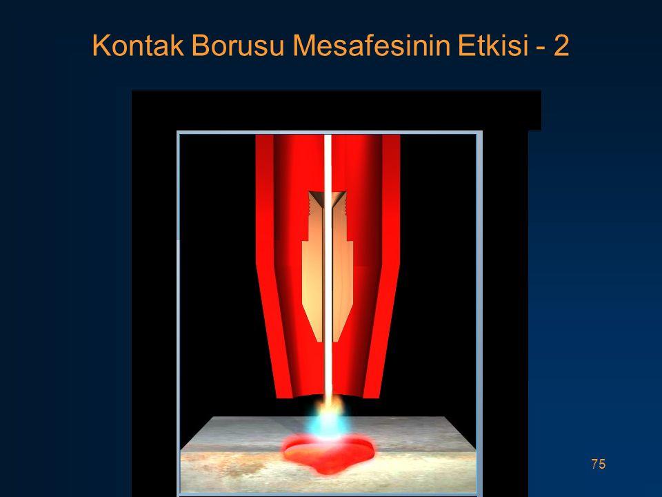75 Kontak Borusu Mesafesinin Etkisi - 2