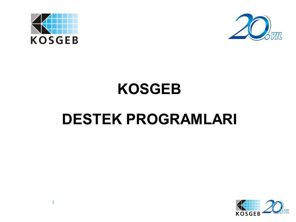 3 Hedef kitlesi; 1-250 arası resmi olarak çalışanı olan, Net Cirosu 25 Milyon TL' yi aşmayan işletmeler, yani KOBİ'ler ve GİRİŞİMCİLERdir.