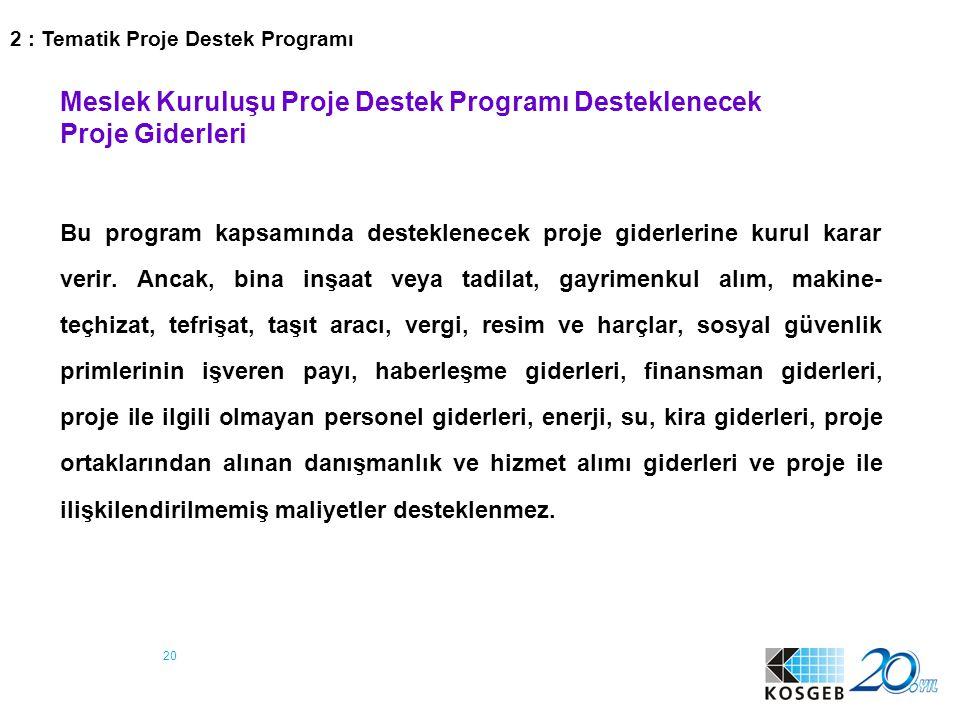 21 3 : İşbirliği-Güçbirliği Destek Programı
