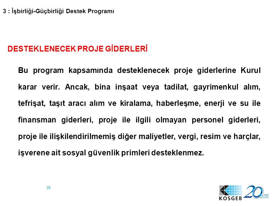 29 4 : Ar-Ge, İnovasyon, Endüstriyel Uygulama Destek Programı