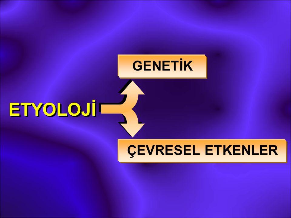 ETYOLOJİ GENETİK ÇEVRESEL ETKENLER