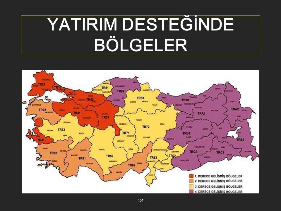 SABİT YATIRIM TUTARI VE ASGARİ KAPASİTELER 25 I inci ve II nci bölgelerde yapılacak yatırımlarda: 1 milyon Türk Lirası, III üncü ve IV üncü bölgelerde yapılacak yatırımlarda:500 bin Türk Lirası olması gerekmektedir