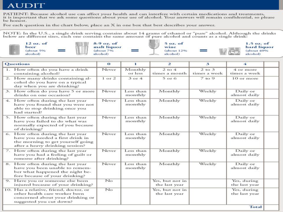 23 Michigan Alcoholism Screening Test (MAST) 1971'de Selzer ve arkadaşları tarafından geliştirilmiş 25 sorudan oluşan bir tarama testidir.