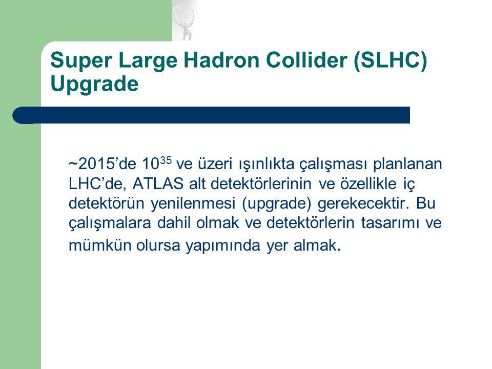 Super Large Hadron Collider (SLHC) Upgrade ~2015'de 10 35 ve üzeri ışınlıkta çalışması planlanan LHC'de, ATLAS alt detektörlerinin ve özellikle iç det