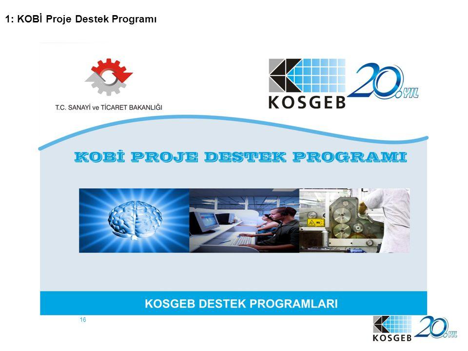 16 1: KOBİ Proje Destek Programı