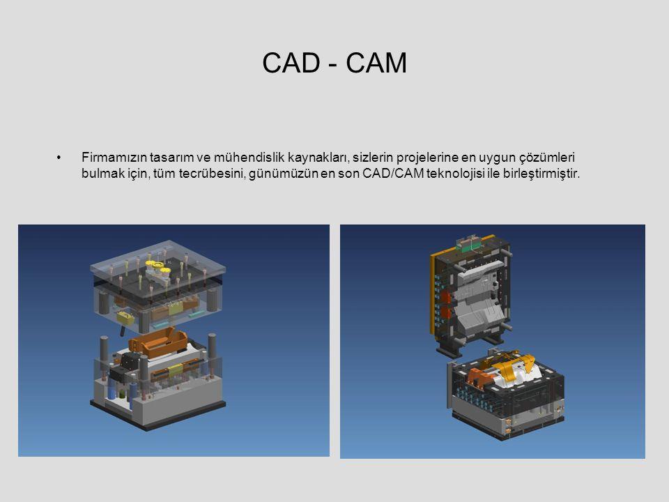 CAD - CAM Firmamızın tasarım ve mühendislik kaynakları, sizlerin projelerine en uygun çözümleri bulmak için, tüm tecrübesini, günümüzün en son CAD/CAM