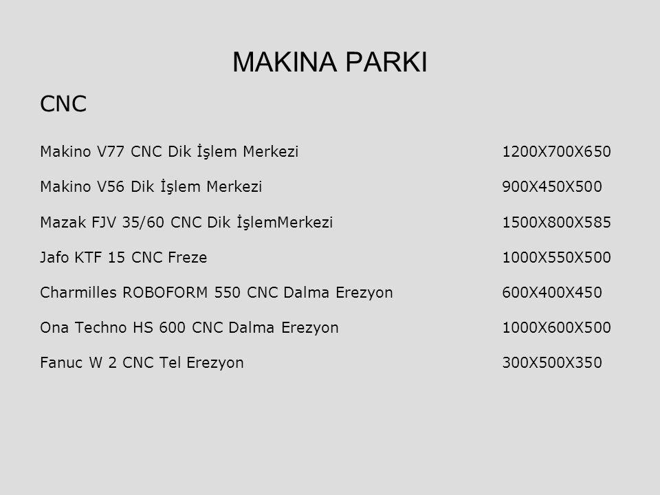 MAKINA PARKI CNC Makino V77 CNC Dik İşlem Merkezi 1200X700X650 Makino V56 Dik İşlem Merkezi 900X450X500 Mazak FJV 35/60 CNC Dik İşlemMerkezi1500X800X5