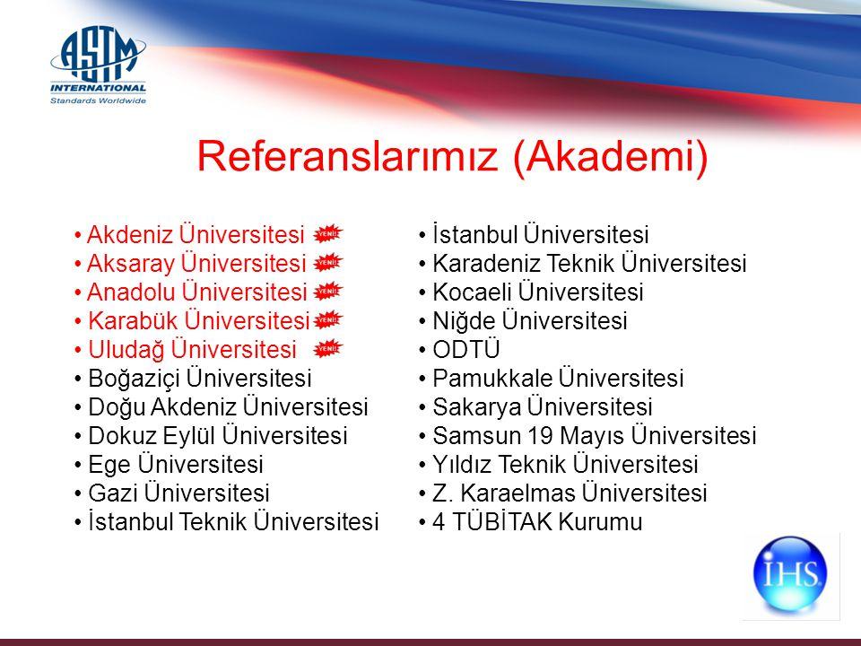 Referanslarımız (Akademi) Akdeniz Üniversitesi Aksaray Üniversitesi Anadolu Üniversitesi Karabük Üniversitesi Uludağ Üniversitesi Boğaziçi Üniversites