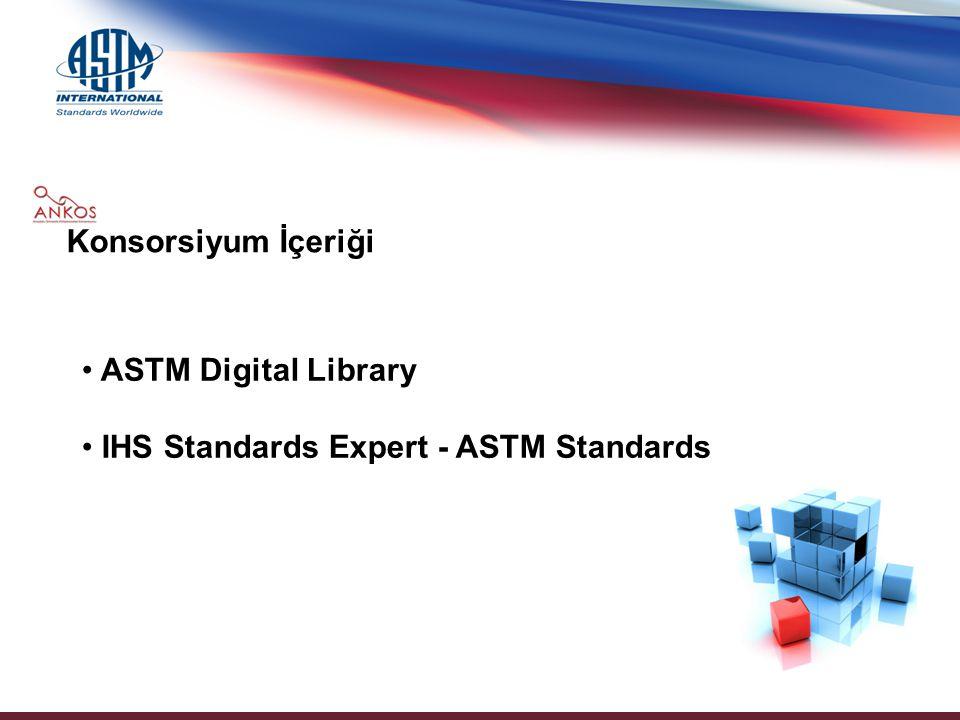 ASTM Dijital Kütüphanesi; 6 dergi 1500'ün üzerinde teknik kitap ve bildiri, 110'dan fazla el kitabı 104000 teknik ve bilimsel makale, 500.000 sayfayı aşkın geçerli bilgiyi masaüstünüze getiren bilgi kaynağıdır.