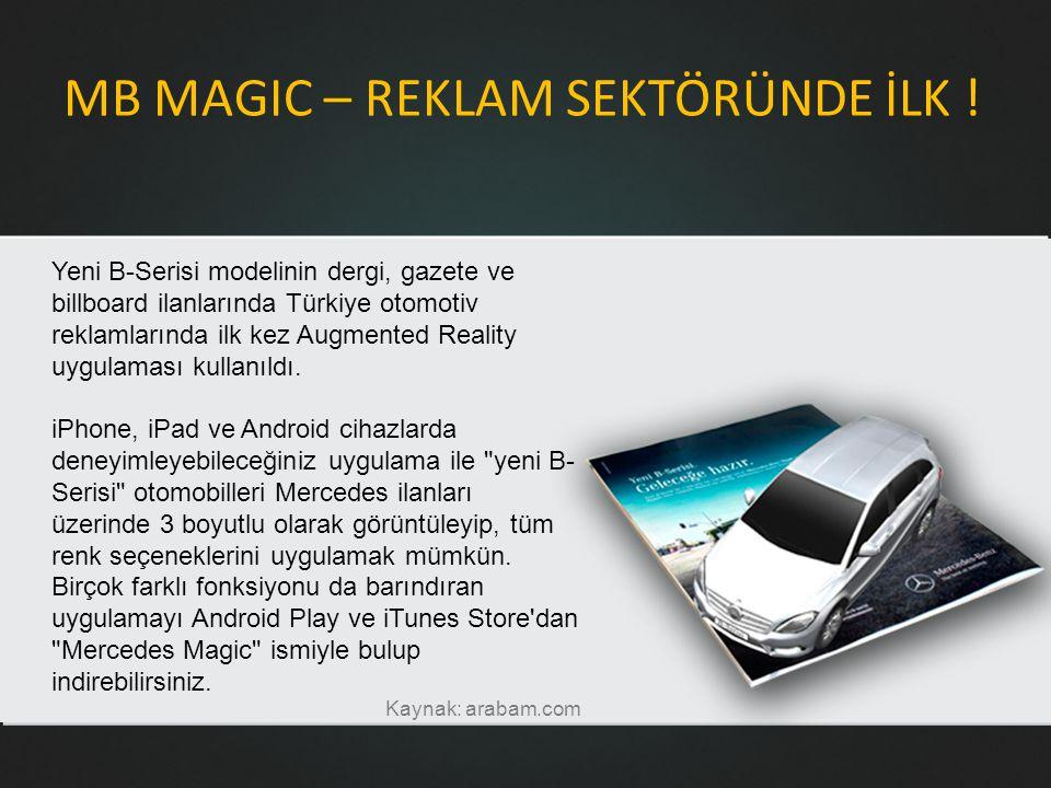 MB MAGIC – REKLAM SEKTÖRÜNDE İLK .