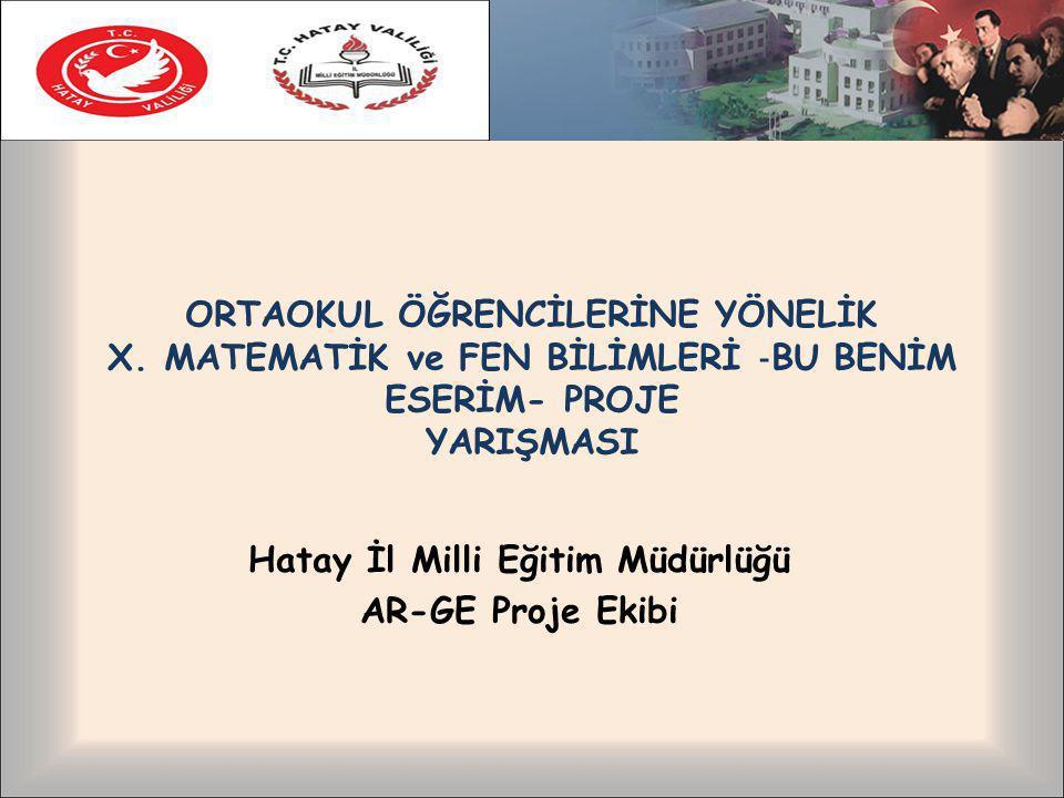 ORTAOKUL ÖĞRENCİLERİNE YÖNELİK X.