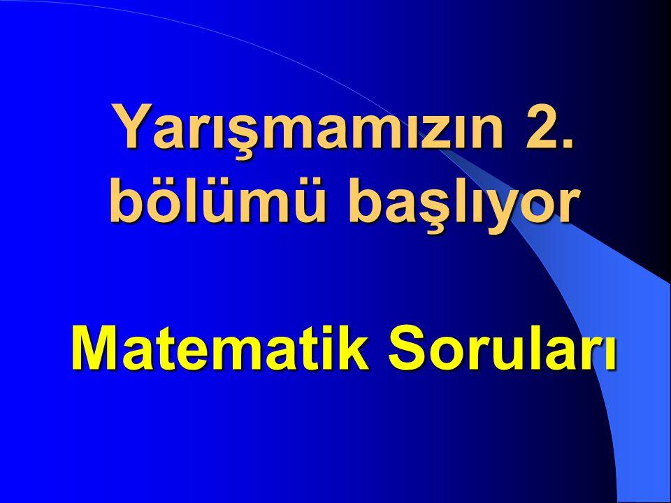 Yarışmamızın Türkçe soruları bitti. Şimdi sırada şiirler, şarkılar ve küçük oyunlar var ! Karşınızda Sunucularımız Zeynep Sena Yıldız Ve Selim Taha Al