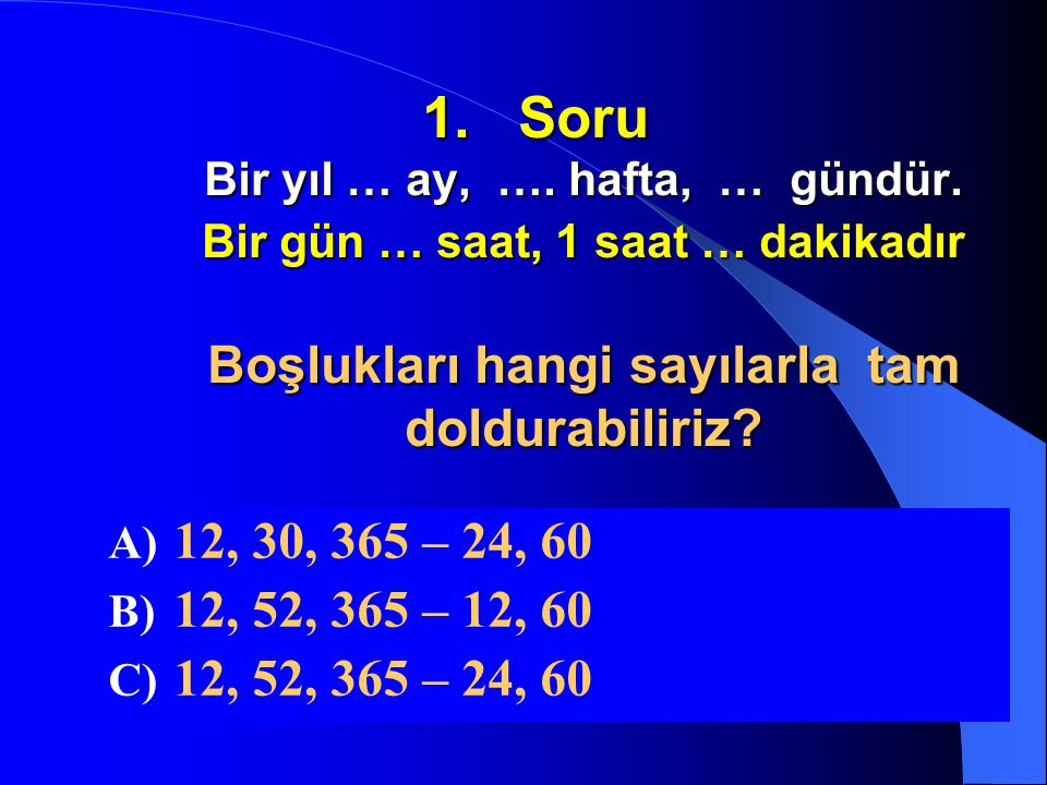 Yarışmamızın 2. bölümü başlıyor Matematik Soruları