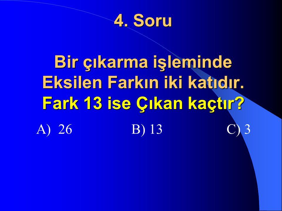3. Soru 5 birlik 4 onluk ile 5 onluk 7 birliğin toplamı kaçtır? A) 8 onluk + 2 birlik B) 9 onluk + 2 birlik C) 9 onluk + 12 birlik