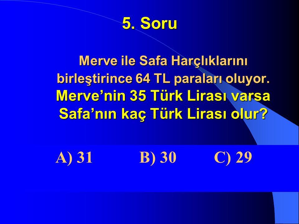 4. Soru Bir çıkarma işleminde Eksilen Farkın iki katıdır. Fark 13 ise Çıkan kaçtır? A) 26 B) 13 C) 3