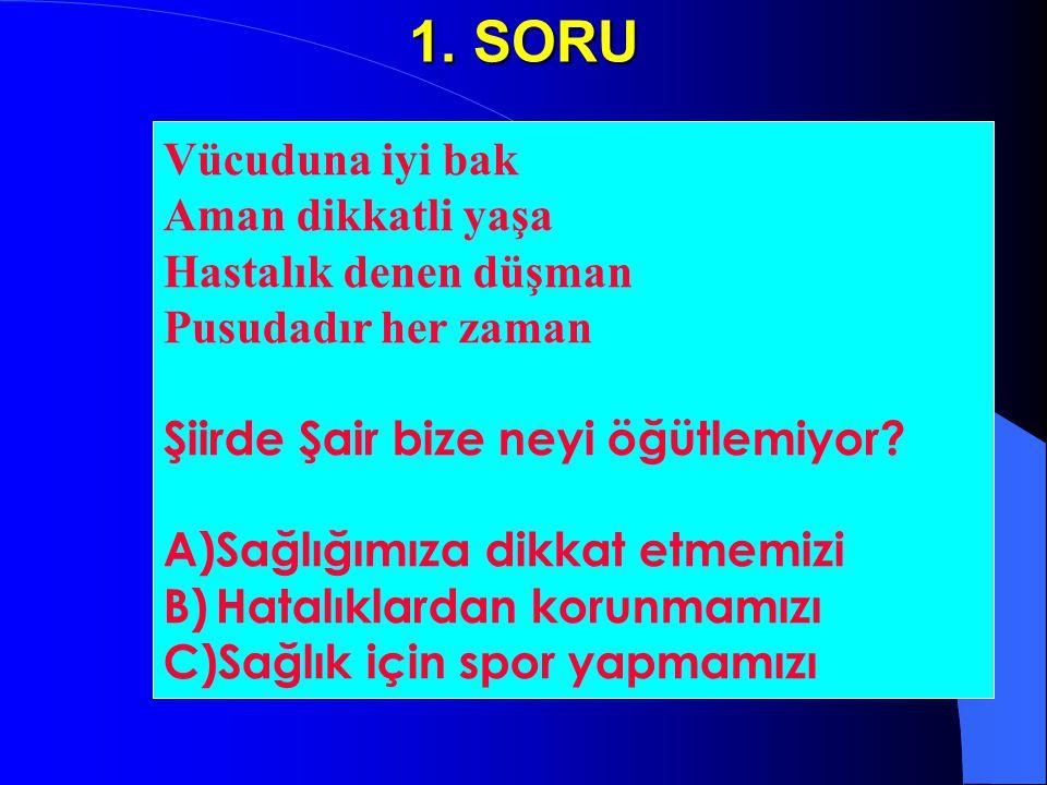 Yarışmamızın Türkçe soruları bitti.Şimdi sırada şiirler, şarkılar ve küçük oyunlar var .
