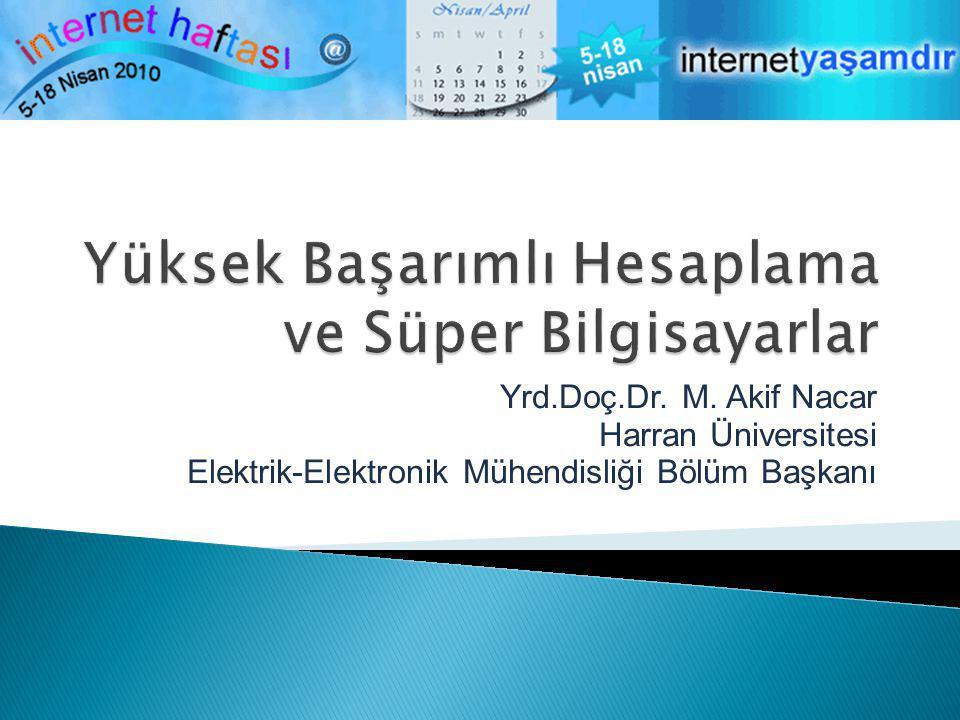 Yrd.Doç.Dr. M. Akif Nacar Harran Üniversitesi Elektrik-Elektronik Mühendisliği Bölüm Başkanı