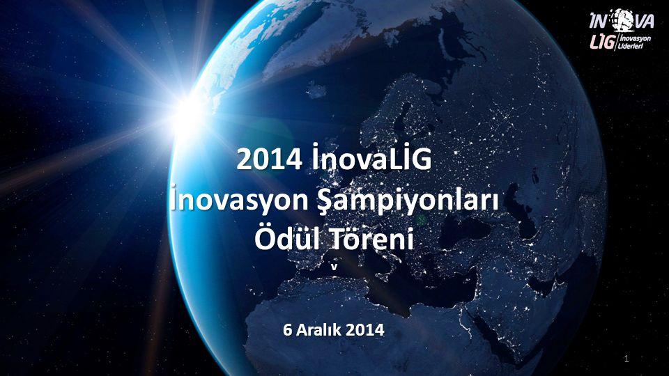 İnovaLİG 2014 Finalistleri 2 İnovaLİG - İnovasyon Liderleri Ödül Töreni – 6 Aralık 2014 İnovaLİG ortalaması (178 şirket) İnovaLİG ilk 25 Avrupa ortalaması