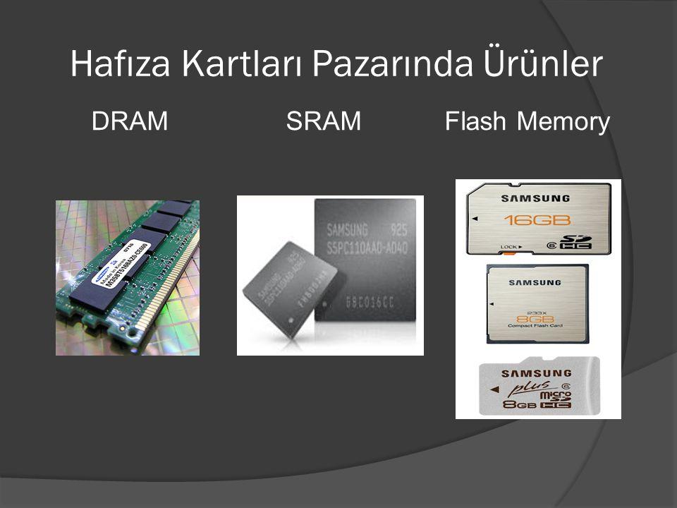 Hafıza Kartları Pazarında Ürünler DRAM SRAM Flash Memory