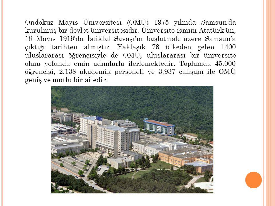 Ondokuz Mayıs Üniversitesi (OMÜ) 1975 yılında Samsun'da kurulmuş bir devlet üniversitesidir. Üniversite ismini Atatürk'ün, 19 Mayıs 1919'da İstiklal S