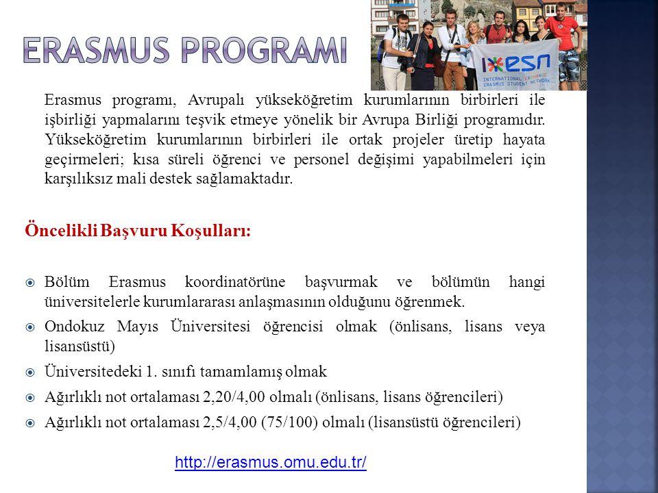 Erasmus programı, Avrupalı yükseköğretim kurumlarının birbirleri ile işbirliği yapmalarını teşvik etmeye yönelik bir Avrupa Birliği programıdır. Yükse