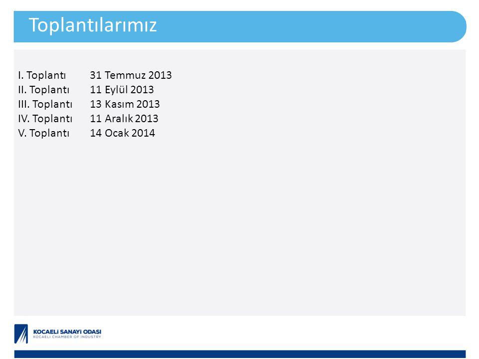 Toplantılarımız I. Toplantı31 Temmuz 2013 II. Toplantı11 Eylül 2013 III.