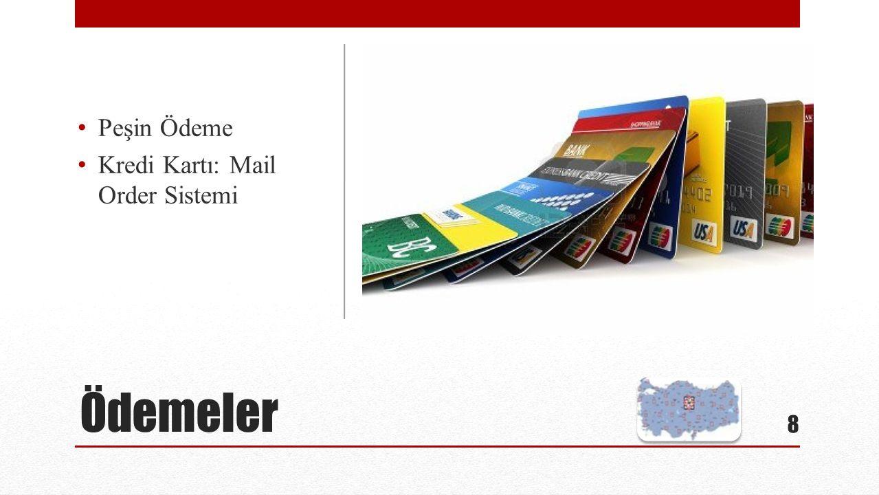 Ödemeler Peşin Ödeme Kredi Kartı: Mail Order Sistemi 8