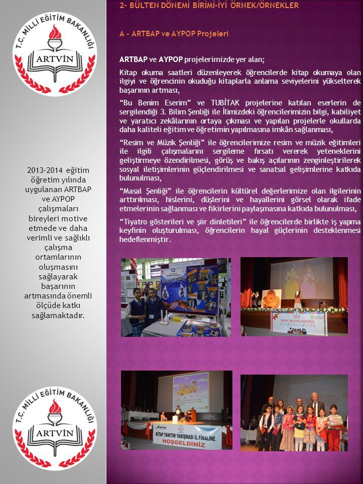 B - 100 Temel Eser Okuma Projesi Artvin İl Milli Eğitim Müdürlüğünce il genelinde, Artvin Okuyor sloganı ile bu yıl üçüncüsü düzenlenen 100 Temel Eser Okuma Yarışması sınavı 24 Mayıs 2014 Cumartesi günü saat 09.30' da düzenlendi.