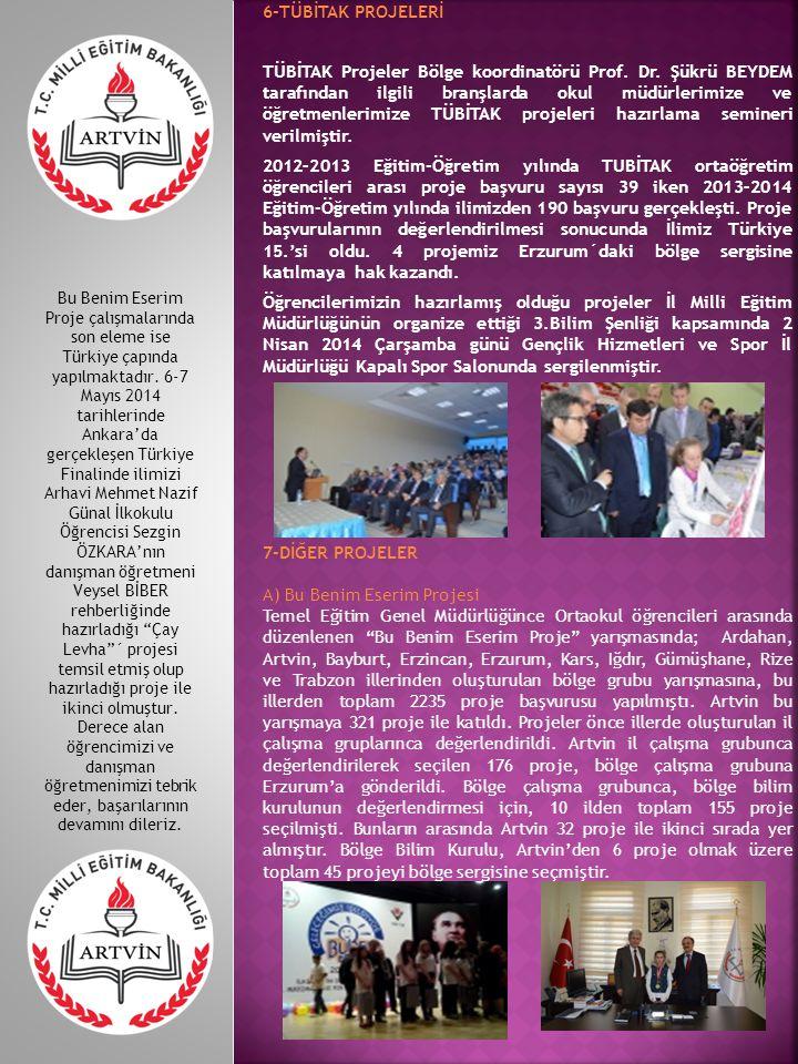 6-TÜBİTAK PROJELERİ TÜBİTAK Projeler Bölge koordinatörü Prof.