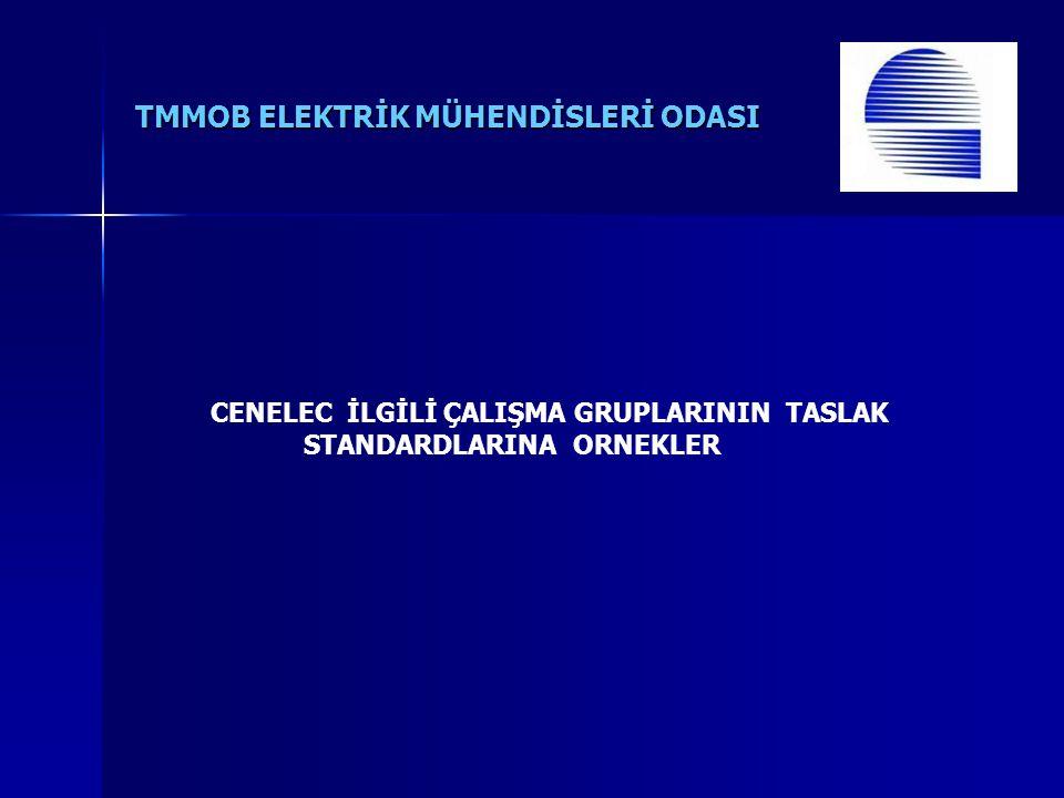 CENELEC İLGİLİ ÇALIŞMA GRUPLARININ TASLAK STANDARDLARINA ORNEKLER
