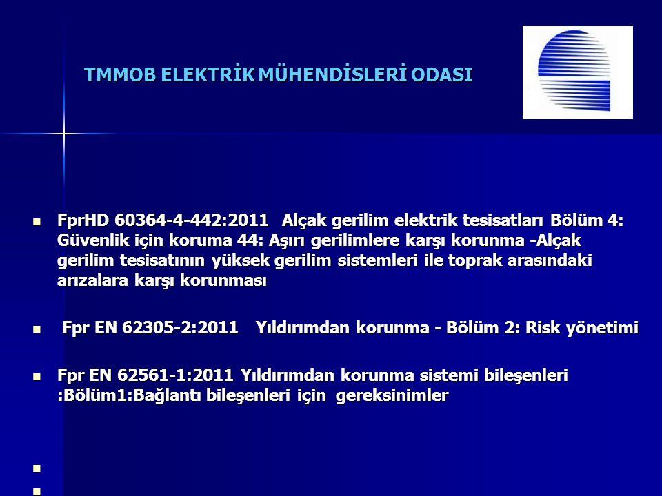 TMMOB ELEKTRİK MÜHENDİSLERİ ODASI FprHD 60364-4-442:2011 Alçak gerilim elektrik tesisatları Bölüm 4: Güvenlik için koruma 44: Aşırı gerilimlere karşı