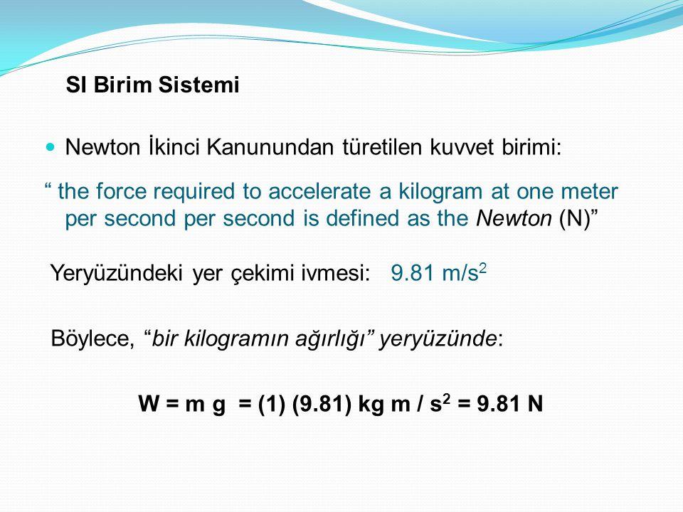 Özgül kütle (ρ): Maddenin birim hacminin kütlesi Özgül ağırlık (γ): Maddenin birim hacminin ağırlığı Ağırlık = Kütle x Yer Çekimi İvmesi - Suyun 20 derece sıcaklıktaki özgül ağırlığı: 9.79 kN/m3 - Suyun 4 derece sıcaklıktaki yoğunlugu: 1000 kg/m3
