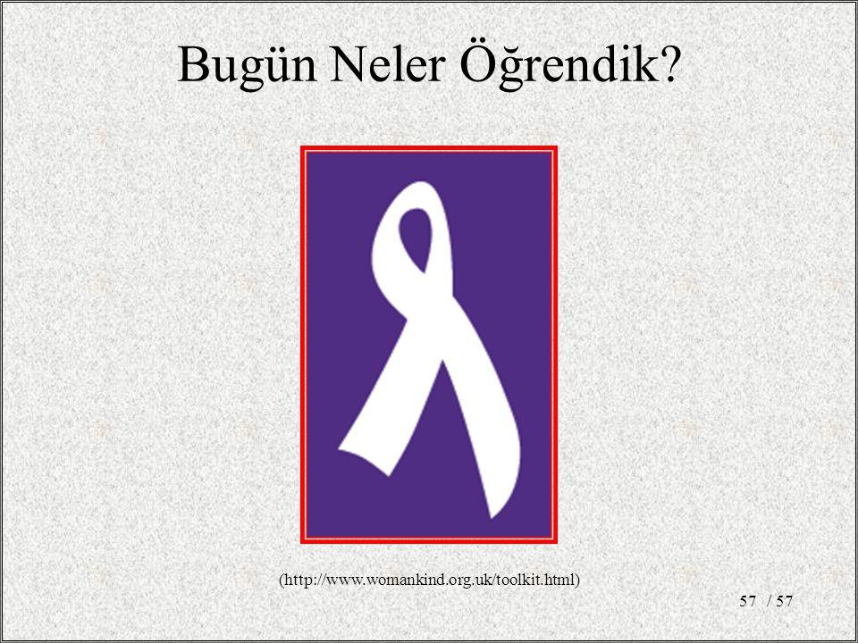 / 5757 Bugün Neler Öğrendik (http://www.womankind.org.uk/toolkit.html)