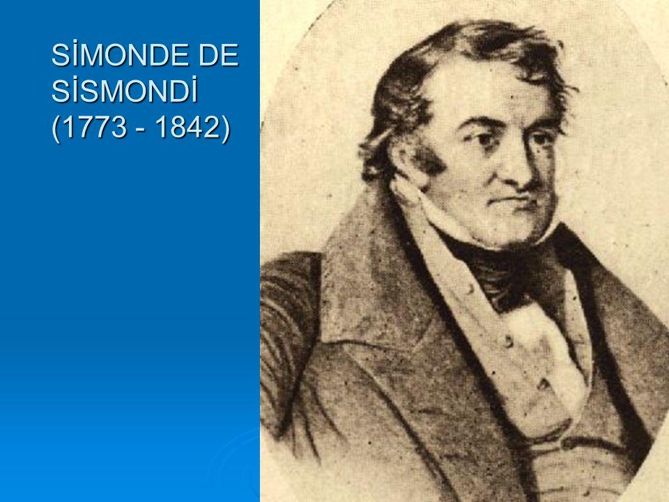  İtalyan asıllı bir ailenin çocuğu olan Simonde de Sismondi 1773 yılında İsviçre nin Cenevre kentinde doğmuştur.