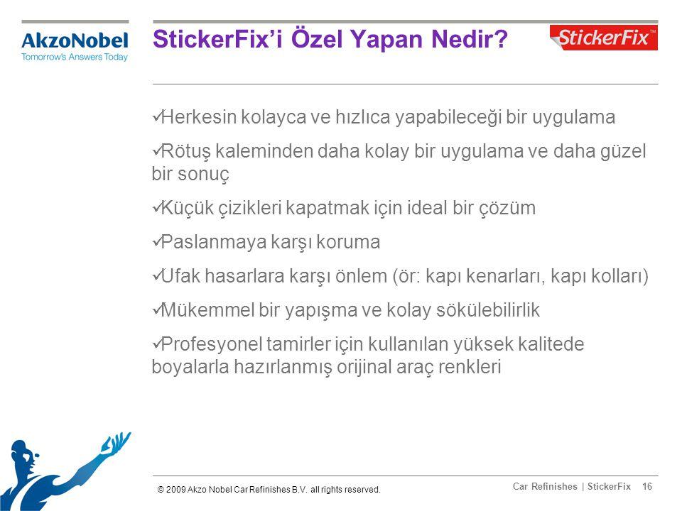 Car Refinishes | StickerFix16 StickerFix'i Özel Yapan Nedir.